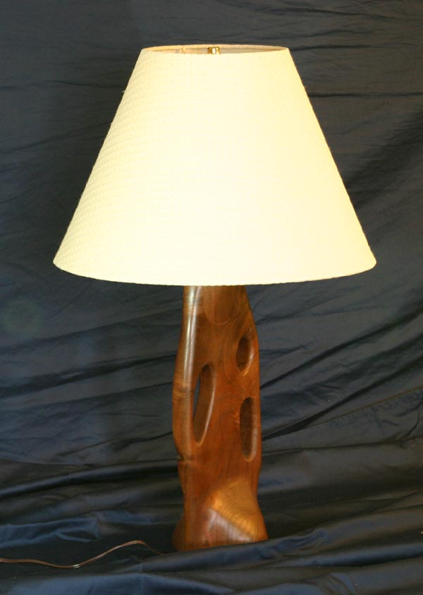 Walnut Lamp